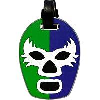By Mexico Identificador de Maletas modelo Máscara de Luchador Verde-Azul