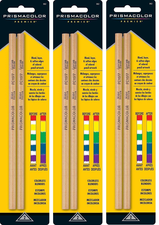 Prismacolor Premier YDITHu Colorless Blender Pencils, 2 Count (Pack of 3)