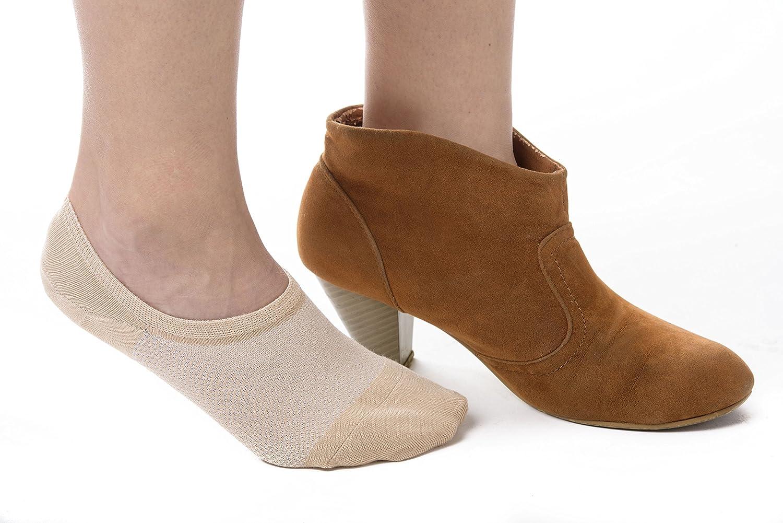 4 pairs Non-Slip Bambu Womens Premium Bamboo No Show Socks