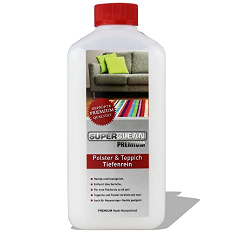 Líquido especial de alta concentración para la limpieza profunda de todo tipo de tapicería, alfombras, rieles, asientos de automóvil y fundas de ...