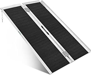 ORFORD Non Skid Wheelchair Ramp 4FT, Utility Mobility Access Threshold Ramp for Home, Steps, Stairs, Doorways, Scooter