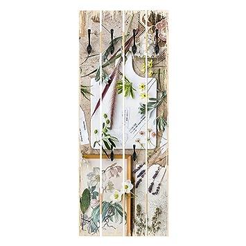 Bilderwelten Perchero de Madera - Flowers and Garden Herbs ...