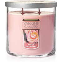 Yankee Candle Medium 2-Wick Tumbler Candle, Fresh Cut Roses