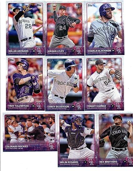 2015 Topps Baseball Cards Colorado Rockies Team Set Series 1 9