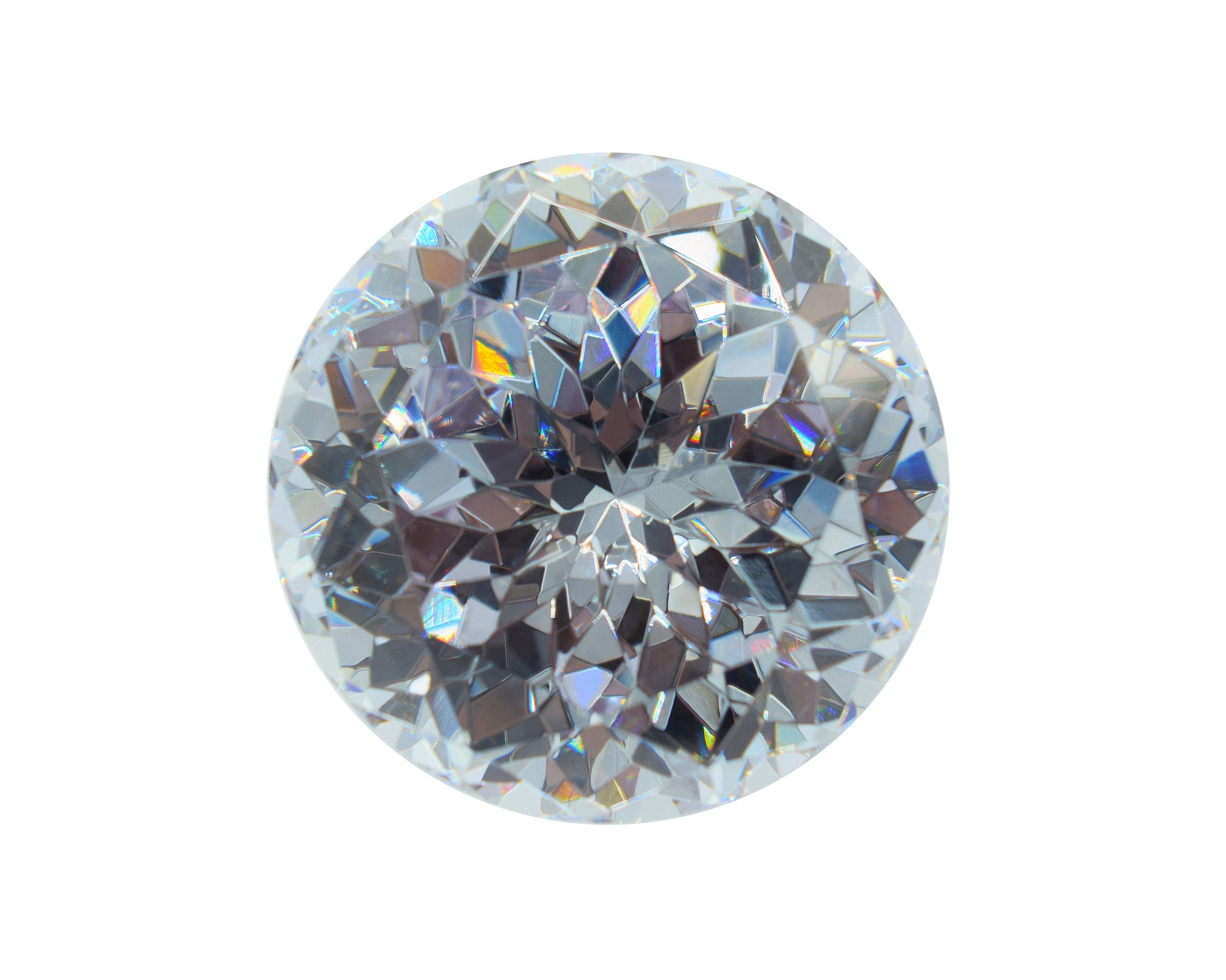 Alone Moon Round Whtie Loose Cubic Zirconia Giant diamond big loose gemstones 30mm-100mm
