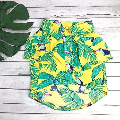 LAMONDE Camisa Hawaiana, Ropa de Verano para Perro, Ropa para ...