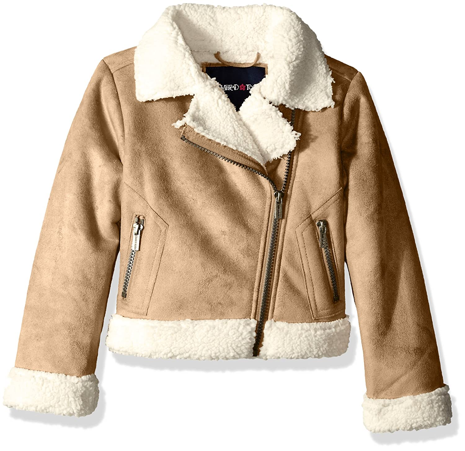 Limited Too Girls Faux Suede Moto Jacket