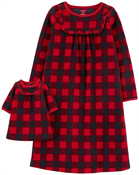 robe Fits 15 dolls such as American girl Buffalo Plaid baby doll bathrobe our generation