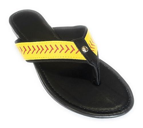 e2ed33e67 Jubilee Spirit Softball Flip Flop Sandals (6) Black
