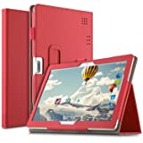 IVSO Custodia Cover per Tagital 10.1/Tiptiper 10.1/Yuntab K107/Excelvan K107/LNMBBS 3G 10/BEISTA 10.1/ibowin 10.1/YOTOPT 10.1/Joyo 10.1/PENG10.1/Ken 10.1/Wecool 10/YUNTAB 3G 10.1/PENGYX 10.1, Rosso