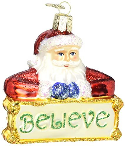 old world christmas ornaments believe santa glass blown ornaments for christmas tree
