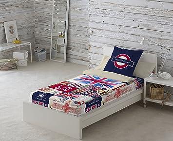 NATURALS Saco Nórdico con Relleno Britain Multicolor Cama 90 (90 x 190/200 + 45 x 110 cm): Amazon.es: Hogar