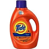 Tide Original Scent HE Turbo Clean Liquid Laundry Detergent, 100 oz, 64 loads