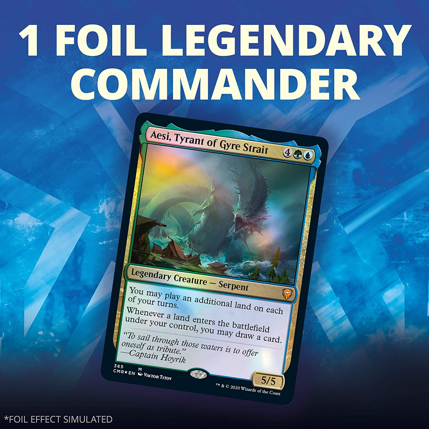 Blue-Green Magic: The Gathering Commander Legends Commander Deck 100 Card Ready-to-Play Deck Reap The Tides 1 Foil Commander