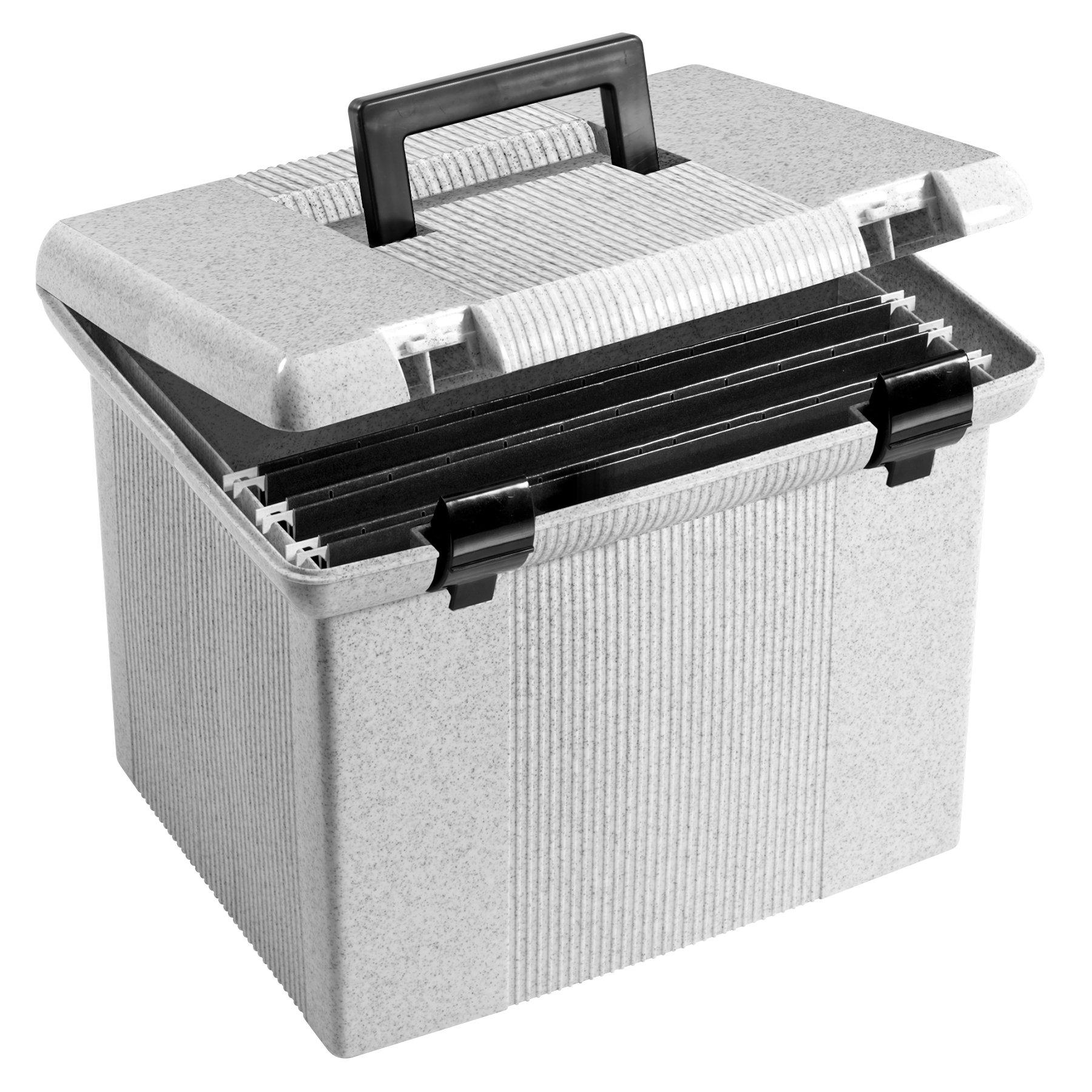Pendaflex Portable File Box, 11''H x 14'' W x 11 1/8'' D, Granite (41747) by Pendaflex