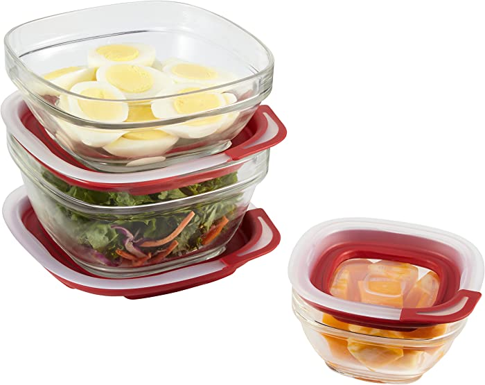 Top 9 Rectangle Glass Food Stage With Snap On Lids