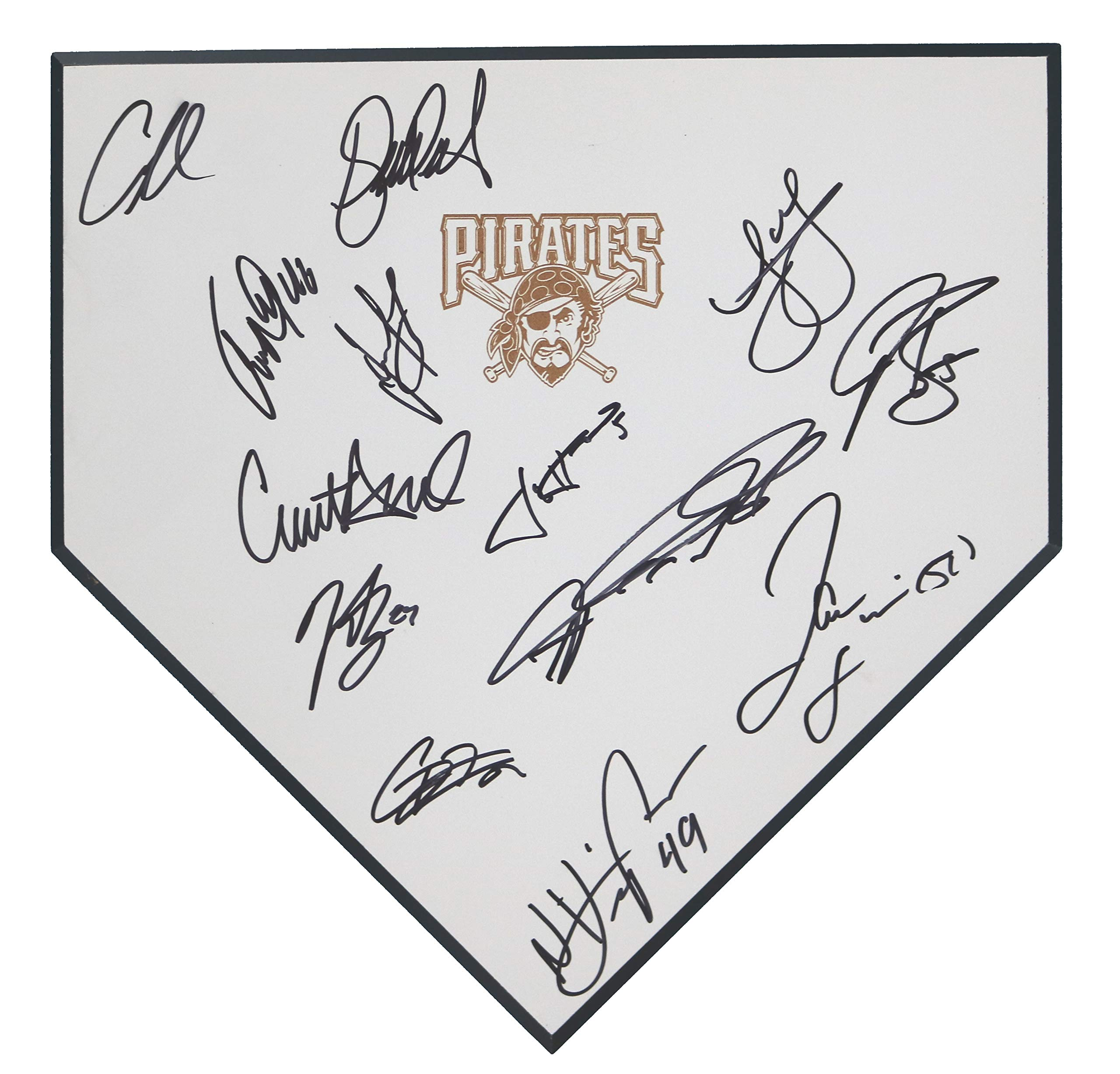 Pittsburgh Pirates 2018 Team Signed Autographed Baseball Home Plate 13 Autographs