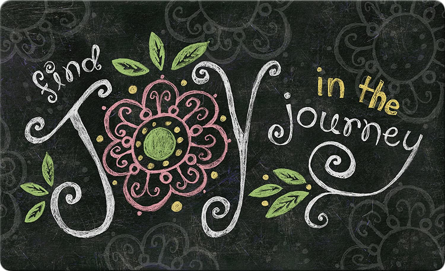 Toland Home Garden Joy in The Journey Chalkboard 18 x 30 Inch Decorative Floor Mat Inspirational Doormat