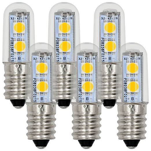 MENGS® Pack de 6 Bombillas LED E14 1W AC 220-240V Blanco cálido 3000K