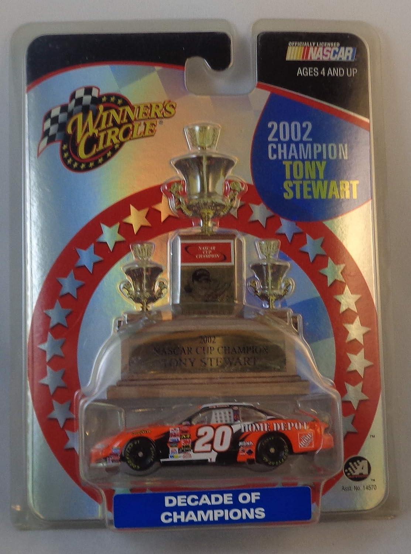 NASCAR 2003 Winner's Circle . . . Tony Stewart #20 The Home Depot Pontiac Grand Prix 1/64 Diecast . . . 2002 Champion . . . Decade of Champions