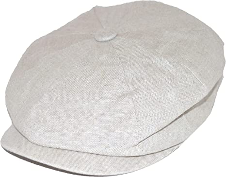 Black Failsworth Hats Alfie Irish Linen Bakerboy Cap