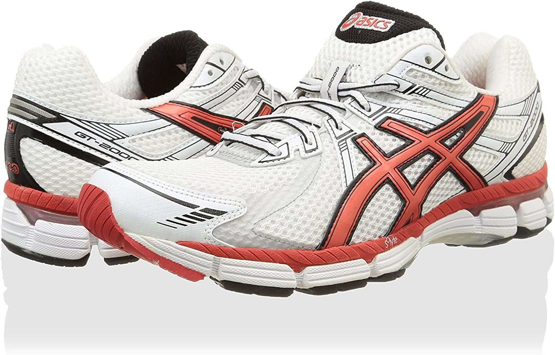 Asics Zapatillas Deportivas Running Gt-2000 (B) Blanco/Rojo/Negro EU 43.5 (US 9.5): Amazon.es: Zapatos y complementos