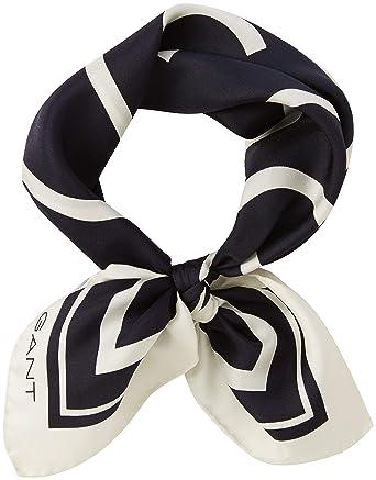 97ca2993638e Gant O1. G Silk Scarf, Echarpe Femme, Bleu (Marine), Taille Unique  Amazon. fr  Vêtements et accessoires