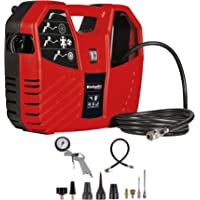 Einhell TC-AC 180/8 OF, Koffercompressor, 1100 W, 180 L/Min, 8 Bar, incl. 3 M Persluchtslang, Persluchtpistool…