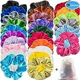 EAONE 26 Colors Hair Scrunchies Velvet Scrunchies Elastic Ties Hair Bands Scrunchy Ponytail Holder Headbands for Women Girls, 26 Pieces