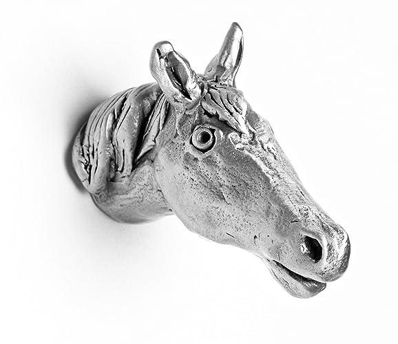 Amazon Com Horse Metal Animal Knob 100 Handmade In The Us