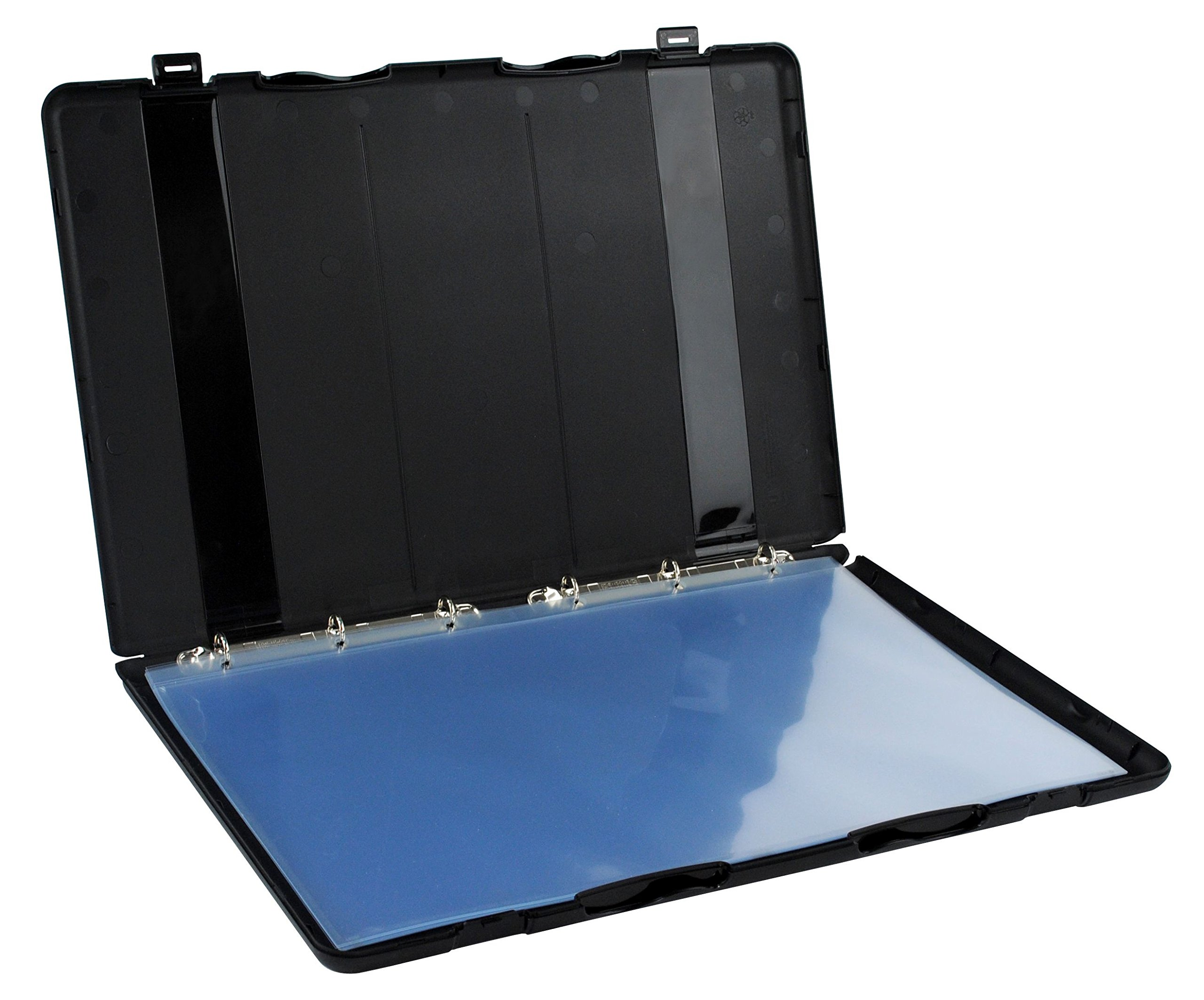 UniKeep Large Binder with Pages (11 x 17) - Black - Fully Enclosed Case Binder