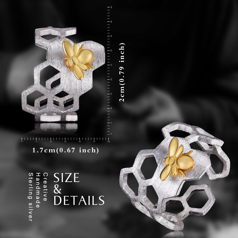 Lotus Fun S925 Bague pour femme en argent sterling 925 Motif abeille et miel