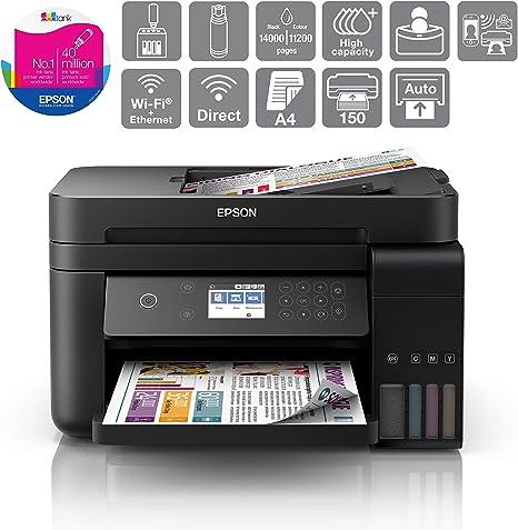 Impresora multifunci/ón Epson EcoTank ET-4700 Inyecci/ón de Tinta, 5760 x 1440 dpi, 100 Hojas, A4, Impresi/ón Directa, Negro