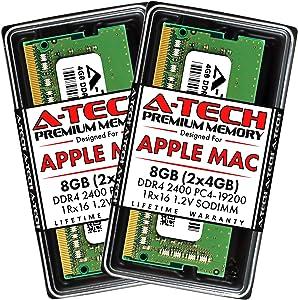 A-Tech 8GB (2x4GB) RAM for Apple 2017 iMac 27 inch Retina 5K, 21.5 inch Retina 4K | DDR4 2400MHz PC4-19200 SO-DIMM 260-Pin CL17 1.2V Non-ECC Unbuffered Memory Upgrade Kit