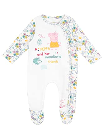Peppa Pig Baby Girls Sleepsuit Ages 0 To 18 Months