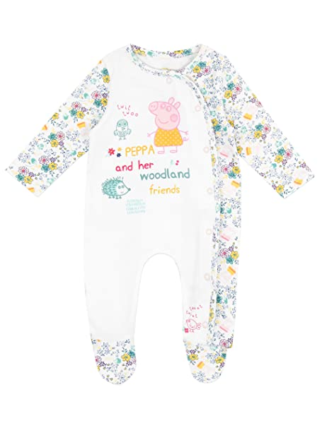 Peppa Pig - Pijama Entera para Niñas Bebés - Peppa Pig - 12 a 18 Meses