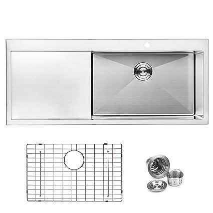 Strange Bai 1232 48 Handmade Stainless Steel Kitchen Sink Single Home Interior And Landscaping Palasignezvosmurscom