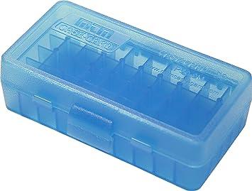 MTM Case-Gard Pistol 50 Round Box Clear Blue P50-9M-24