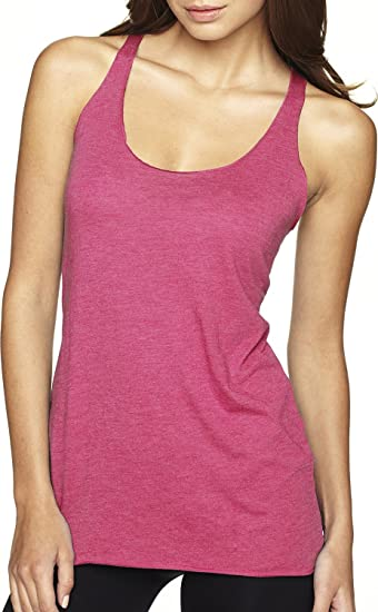 b87939d96194e Next Level Womens Tri-Blend Racerback Tank Top 6733-Vintage Pink at ...