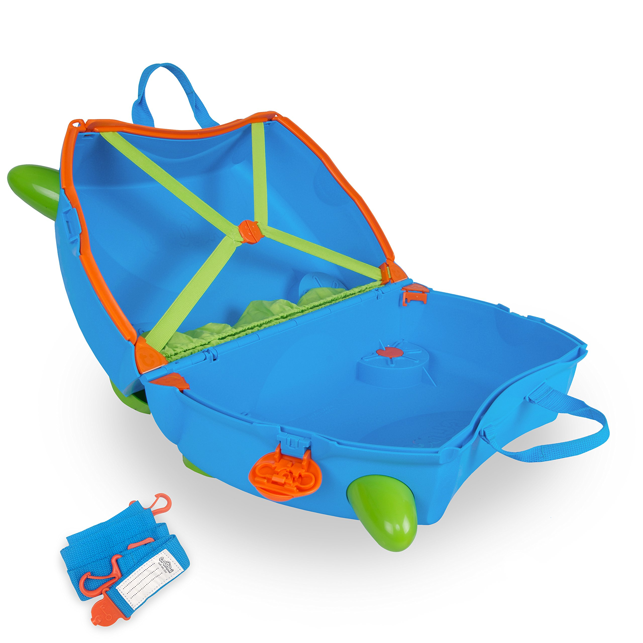 Trunki Original Kids Ride-On Suitcase and Carry-On Luggage - Terrance (Blue) by Trunki (Image #4)