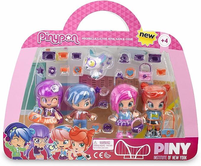 Pinypon by PINY Set de Cuatro muñecas, Multicolor (Famosa 700012916): Amazon.es: Juguetes y juegos