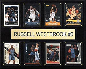 """C & I Collectibles NBA 12""""x15"""" Russell Westbrook Oklahoma City Thunder 8-Card Plaque"""