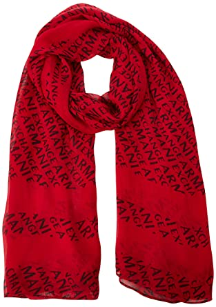1fd5f383dc70 Armani Exchange Rectangle Logo Scarf