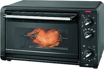 Clatronic MBG 3521 - Horno de sobremesa con grill, convección y asador rotativo, capacidad