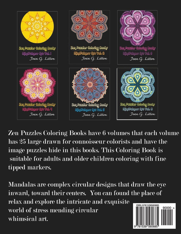 Zen colouring tesco - Amazon Com Zen Puzzles Coloring Books Mandala For Grown Ups Creative Coloring Inspirations Volume 1 9781539560685 Joan G Litton Books