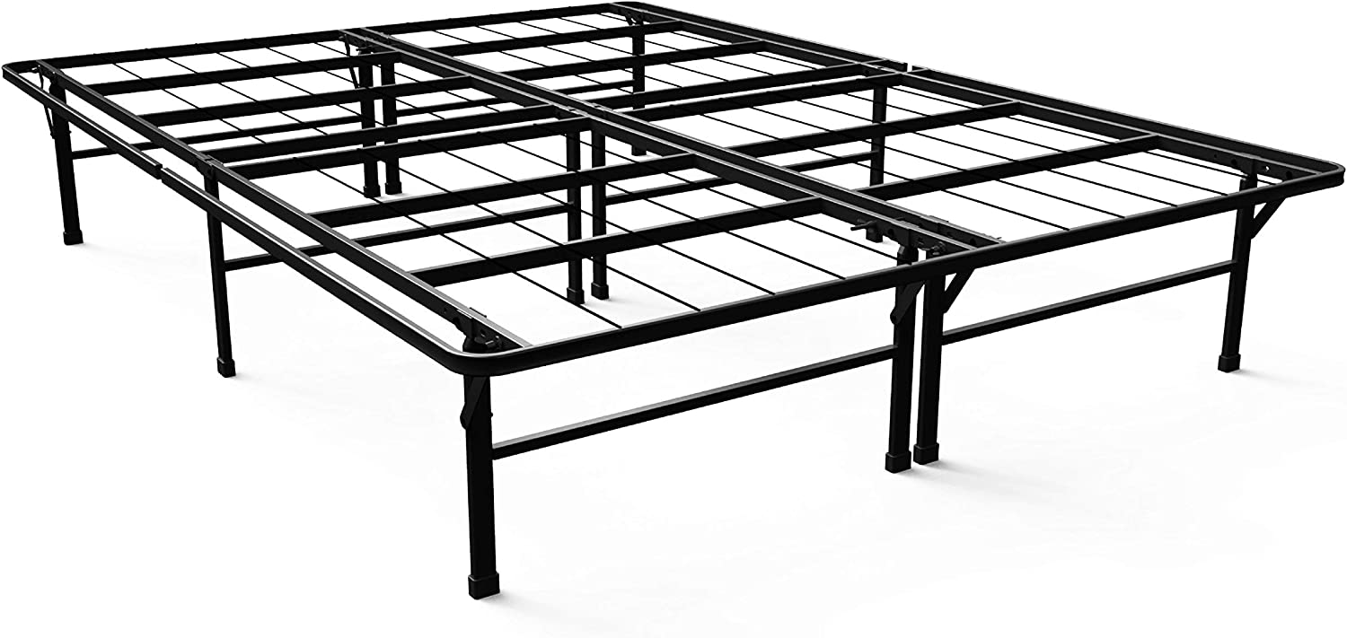Zinus Gene 14 Inch SmartBase Deluxe Mattress Foundation Platform Bed Frame Box Spring Replacement, Full Renewed