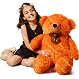 CLICK4DEAL Teddy Bear With Neck Bow -Brown 4 Feet