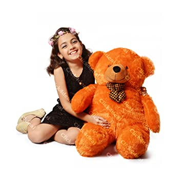 a9e43ef2696 Buy CLICK4DEAL Teddy Bear Cuddles Soft Toy 3 Feet ( 91Cm)-Brown Online at Low  Prices in India - Amazon.in