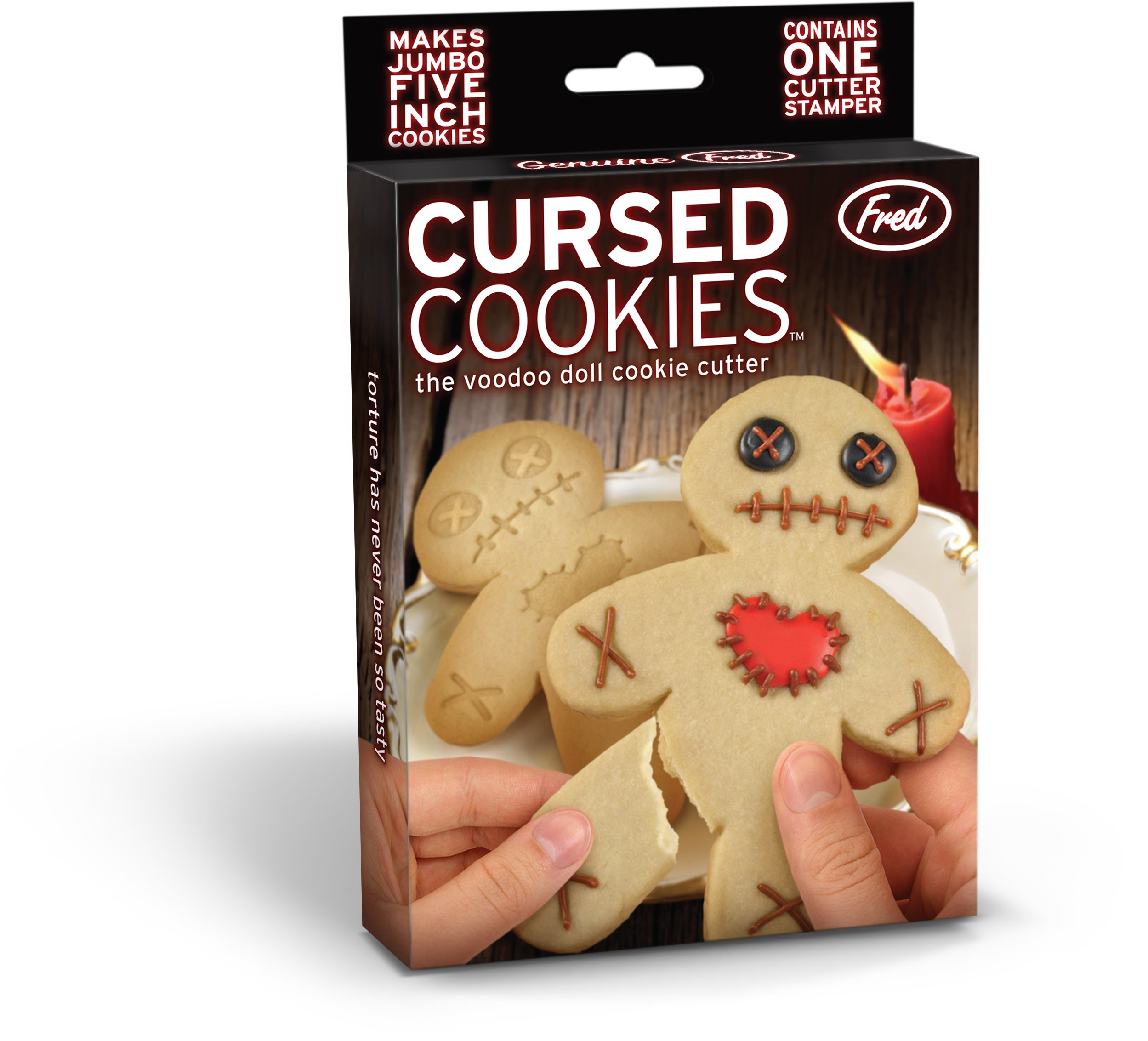 Fred CURSED COOKIES Voodoo Doll Cookie Cutter/Stamper by Fred & Friends (Image #1)