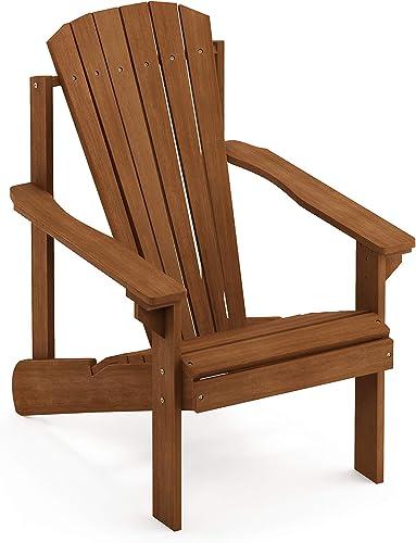 Furinno FG18921 Tioman Hardwood Furniture Small Adirondack Patio Chair